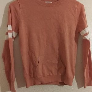 Forever 21 Girl's Pink and White Striped Pullover